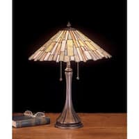 Meyda Tiffany 52158 Stained Glass / Tiffany Table Lamp from the Scroll Jadestone Collection - n/a