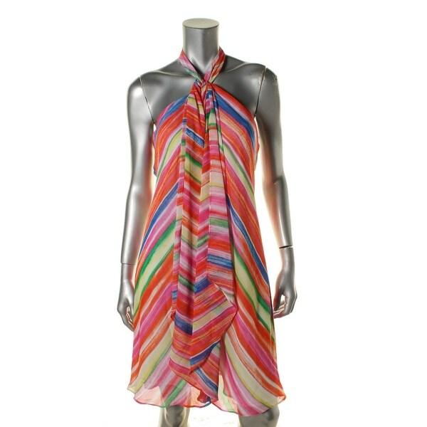 Ralph Lauren Womens Sundress Lined Halter Tie