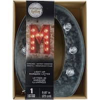 """Silver Metal Marquee Letter 9.875""""-O"""
