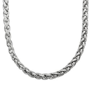 Wheat Chain Necklace in Sterling Silver - White