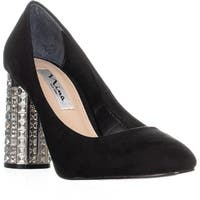 Nina Idabell Jeweled Heels, Black - 8 us / 38 eu