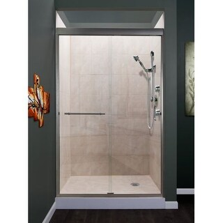 "Miseno MSDC4876 Azul 76"" High x 48"" Wide Frameless Sliding Shower Door with Clea"