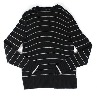 James Perse NEW Black Mens Size 2XL Striped Crewneck Cashmere Sweater