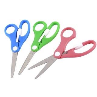 Student Plastic Handle Handmade Tool Paper Shaper Edger Scissors Assorted Color