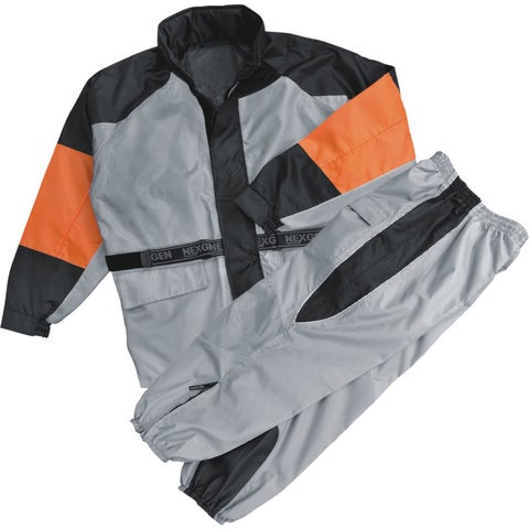 Womens Water Resistant Rain Suit Reflective Piping