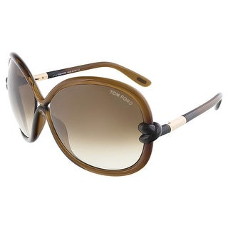 Tom Ford FT0185/S 48F SONJA Brown Oversized sunglasses