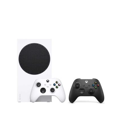 Xbox Series S Console with Additional Black Controller - White