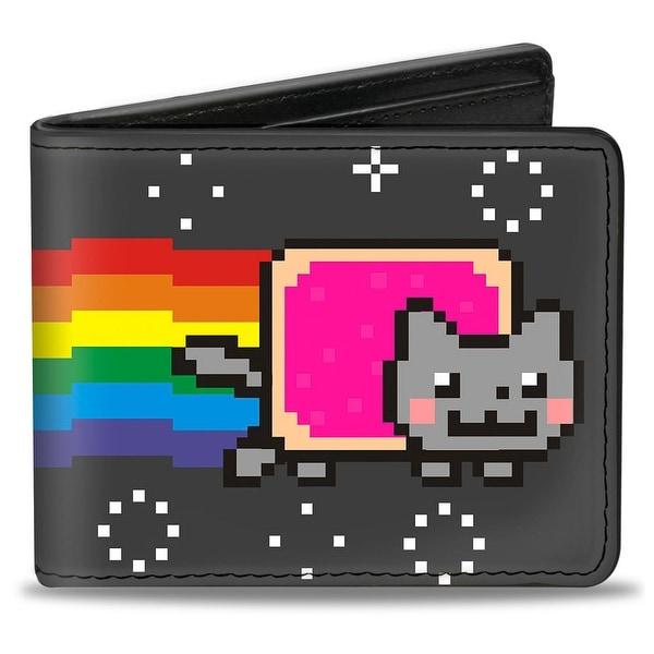 Nyan Cat Black Bi Fold Wallet - One Size Fits most