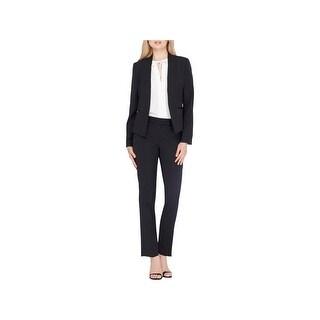 Tahari ASL Womens Missy Pant Suit Pinstripe Professional