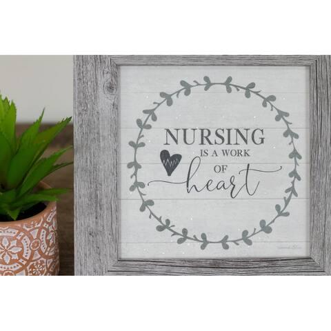 Nursing is a Work Of Heart Nurse Decor Sign Gift Art