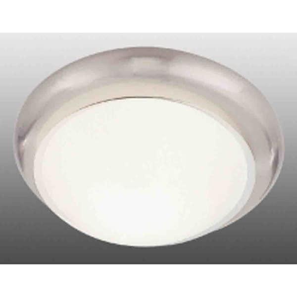 "Volume Lighting V7534 3-Light 16.5"" Flush Mount Ceiling Fixture with White Glass Dome Shade"