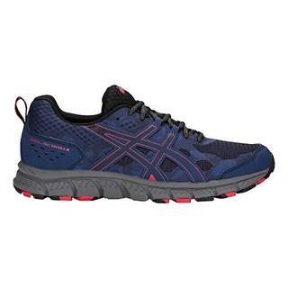 Asics 1011A045 Men's Gel-Scram 4 Running Shoe, Deep Ocean/Cayenne