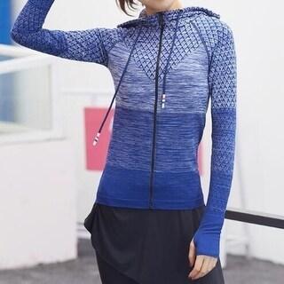 Zip Activewear Coat Yoga Slim Workout Sweatshirt Sports Jackets