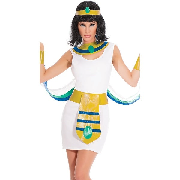 Egyptian Princess Costume, Hoty Egyptian Costumes - White/Gold - One Size Fits Most
