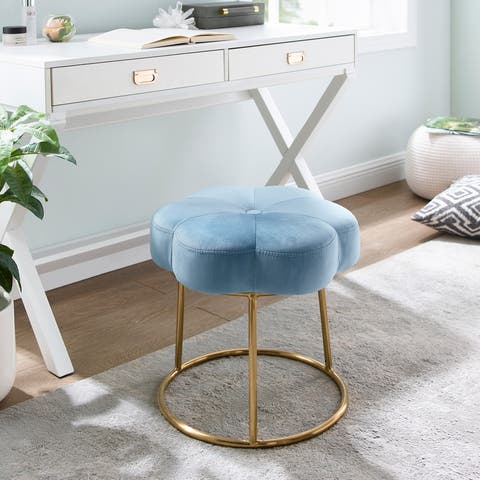 Bonnie Vanity Flower Stool