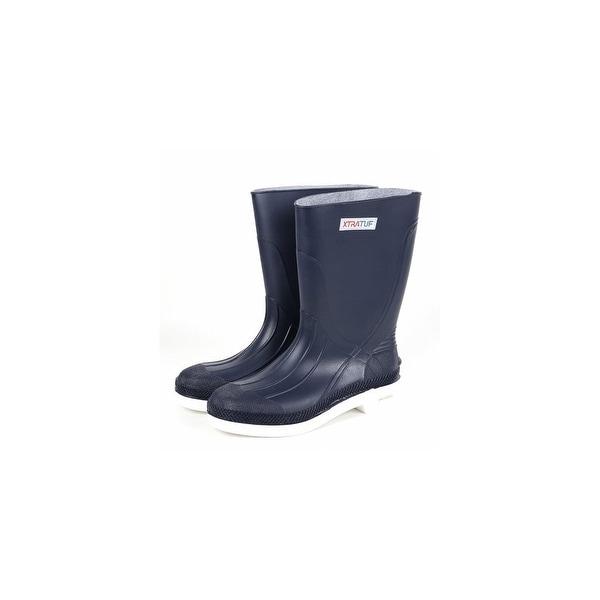 "Xtratuf Men's 11"" Navy Shrimp Boots w/ Chevron Outsole & Heel - Size 12"