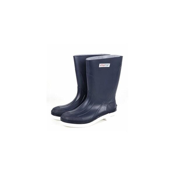 "Xtratuf Men's 11"" Navy Shrimp Boots w/ Chevron Outsole & Heel - Size 14"
