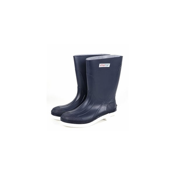 "Xtratuf Men's 11"" Navy Shrimp Boots w/ Chevron Outsole & Heel - Size 15"