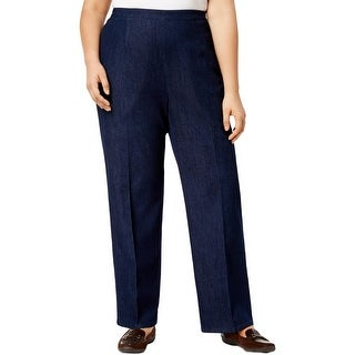 Alfred Dunner Womens Plus Pants Comfort Waist Pull On