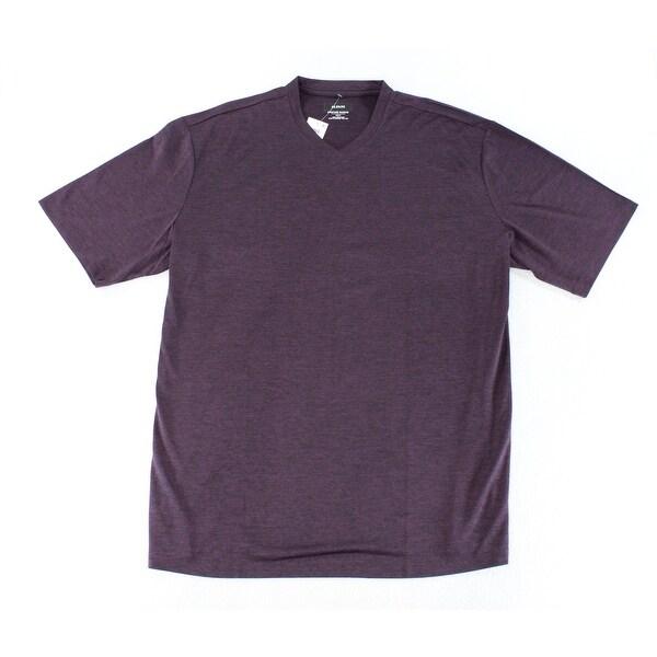 Alfani NEW Eggplant Purple Mens Size XLT Big & Tall V-Neck Shirts Tops