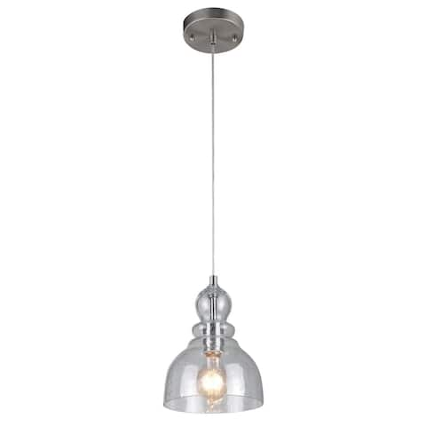 Westinghouse Lighting Fiona Brushed Nickel 1-Light Pendant - N/A