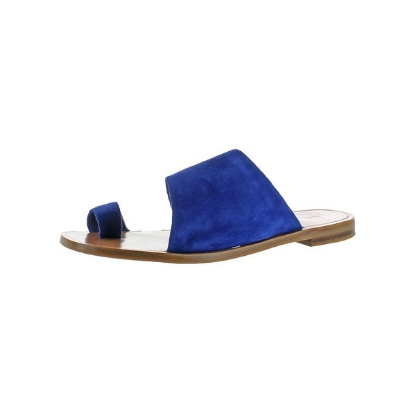 Diane Von Furstenberg Womens Ello Slide Sandals Suede Toe Loop