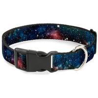 Buckle-Down Space Dust Collage Pet Collar - Medium