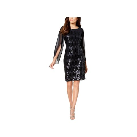Connected Apparel Womens Cocktail Dress Party Sequined
