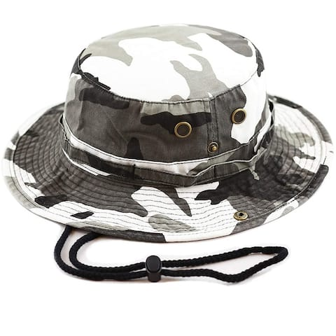 6a58a5a2276 Men Women Boonie hat Cotton Wide Brim Foldable Double-Sided Outdoor
