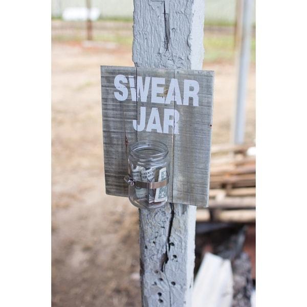 Swear Jar Sign - Rustic Wooden Wall Decor Plaque