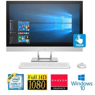 "HP Pavilion 27"" Full HD Touch Core i7-7700T 16GB 2TB HDD Radeon 4GB All-in-1 PC (Refurbished) - White"