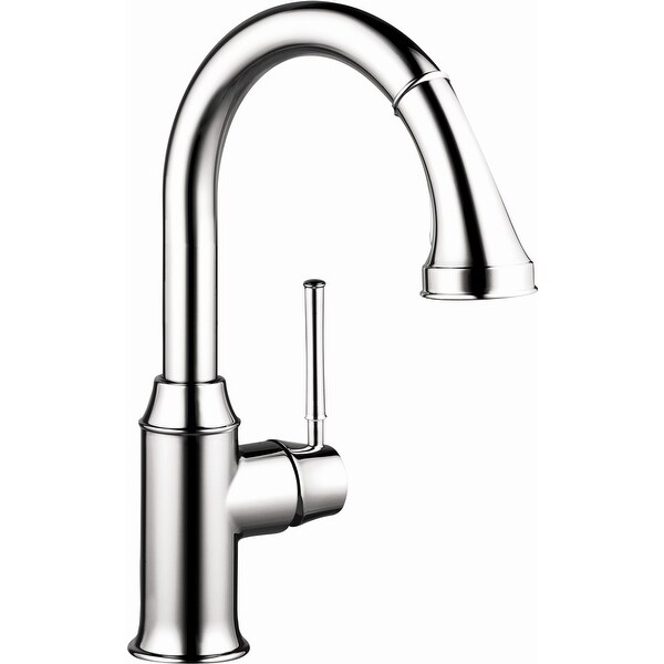 Hansgrohe 04216 Talis C Pull-Down Prep Kitchen Faucet with Magnetic Docking Spray Head and Locking Diverter