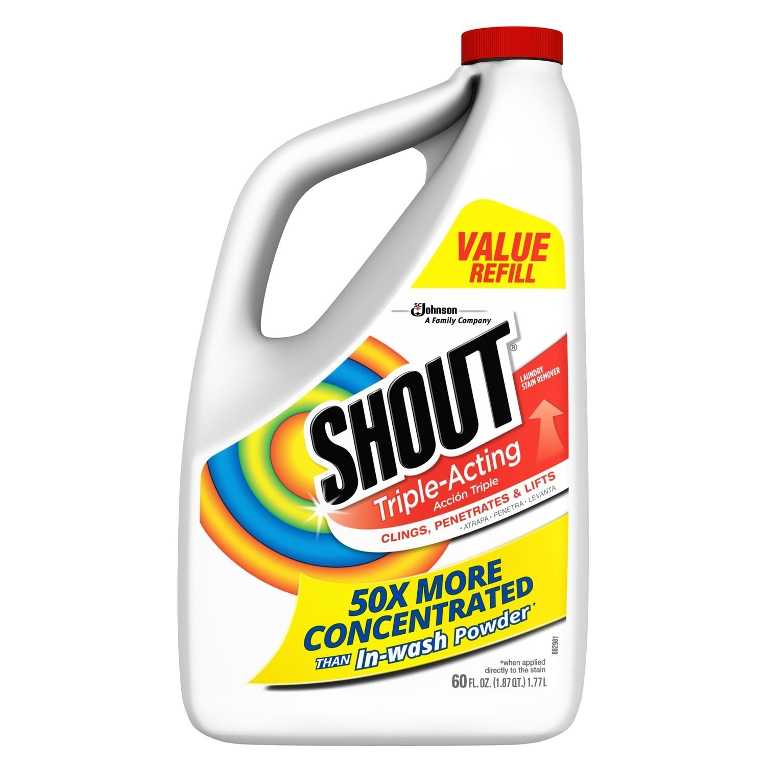 Shout 02274 Laundry Stain Remover, 60 Oz