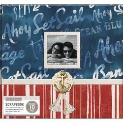 "Nautical Script - K&Company Patterned Post Bound Window Album 12""X12"""