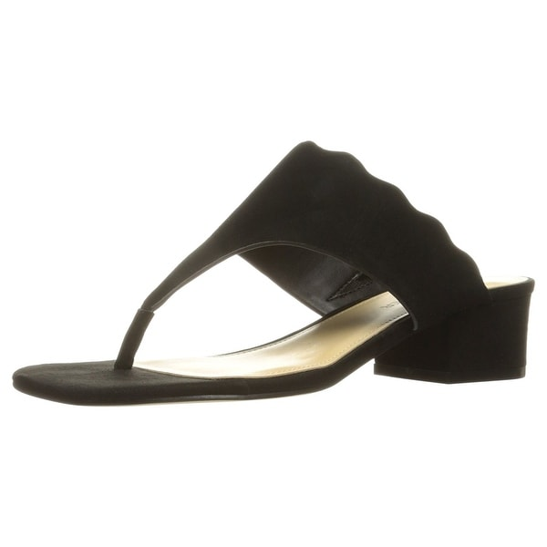 Marc Fisher Womens Veva Leather Open Toe Casual Slide Sandals