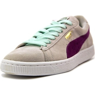 Puma Suede Classic  Women  Round Toe Suede Gray Sneakers