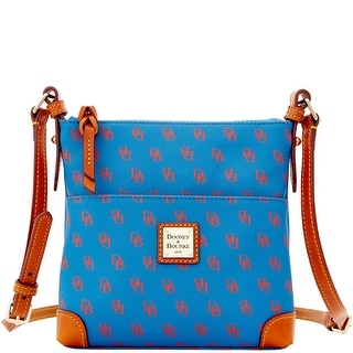 Dooney & Bourke Gretta Letter Carrier (Introduced by Dooney & Bourke at $168 in Sep 2013) - blue red