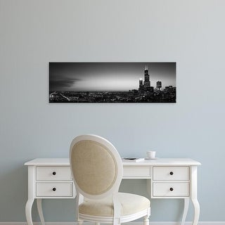 Easy Art Prints Panoramic Images's 'Night Chicago IL USA' Premium Canvas Art