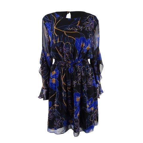 INC International Concepts Women's Plus Size Fit & Flare Dress (0X, Dark Night) - 0X