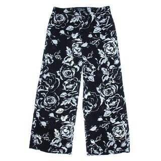 Lauren Ralph Lauren Womens Palazzo Pants Floral Print Wide Leg
