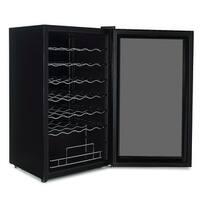 DELLA Wine Cooler Refrigerator Mini Fridge Champagne 34 Bottle Chiller Rack Quiet Operation, Black