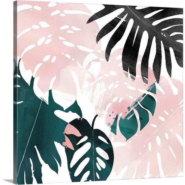 """Palm Blush IV"" Canvas Wall Art"