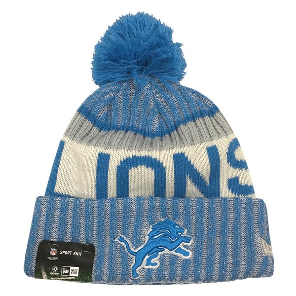 buy popular cde00 7e725 Shop New Era Detroit Lions Knit Beanie Cap Hat NFL 2017 On Field Sideline  11460399 - Free Shipping On Orders Over  45 - Overstock - 17743775