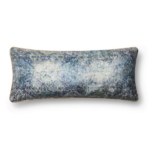 Alexander Home Talia Bohhemian Floral Distressed Throw Pillow