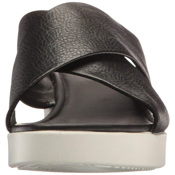 Shop ECCO Womens Touch Leather Open Toe Casual Slide Sandals