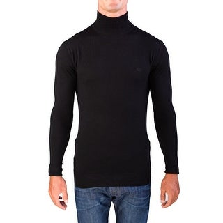 Valentino Men's Mock Neck Sweater Black
