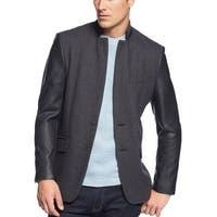 INC International Concepts Blazer Jacket Small S Charcoal Wool Blend