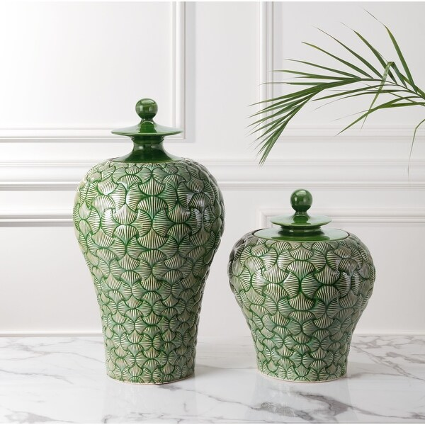 Small Ventra Temple Jar Green. Opens flyout.