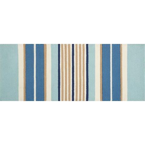 "Waverly Striped Multicolored Area Rug - 1'8""X4'4"""