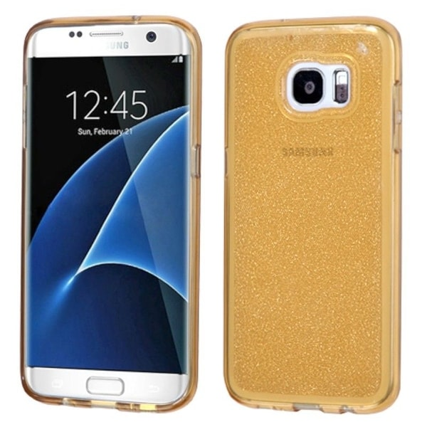 Insten Glittering Glitter TPU Rubber Candy Skin Case Cover For Samsung Galaxy S7 Edge